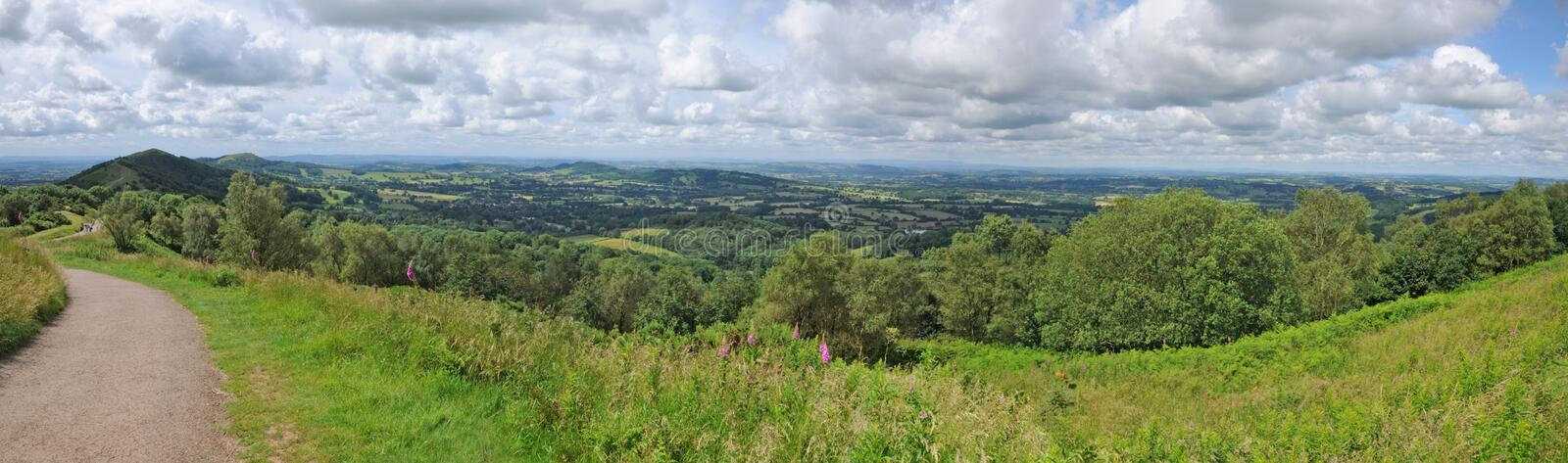 Panorama of the english countryside royalty free stock image