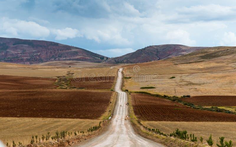 Panorama entlang einem Tal in Peru lizenzfreies stockfoto