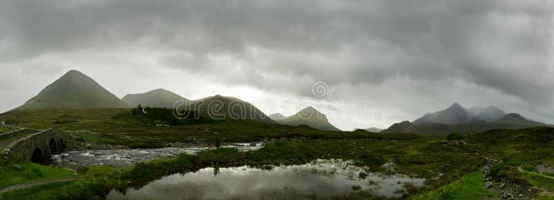 Panorama escocés de las montañas imágenes de archivo libres de regalías