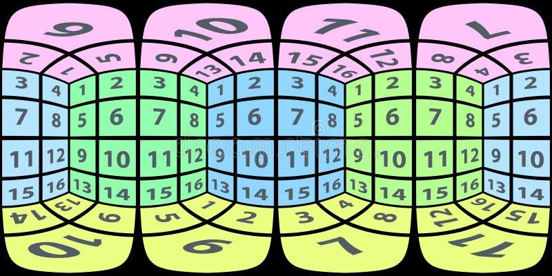 Panorama esférico de las caras interiores del cubo libre illustration