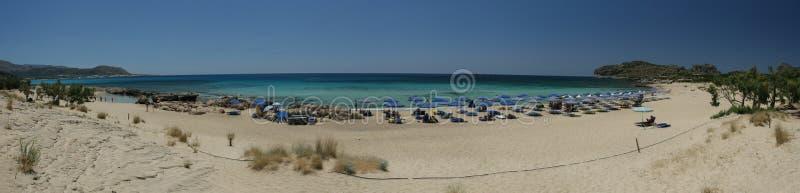 Panorama esotico della spiaggia fotografie stock