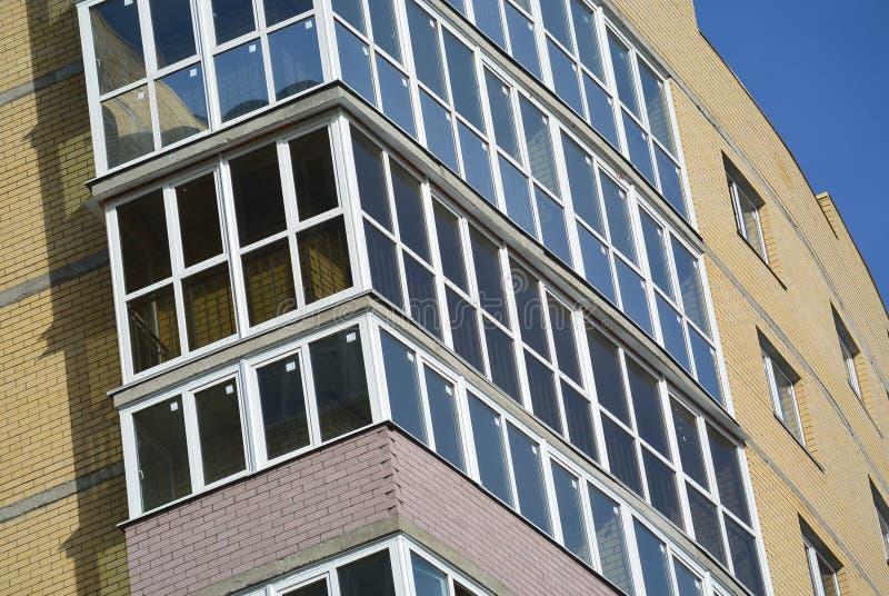 Panorama- fönsterrutor arkivbild