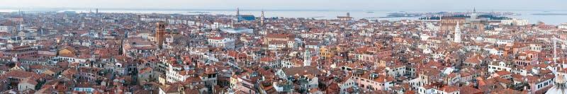 Panorama för överkant för Venedig stad (Italien) arkivbilder