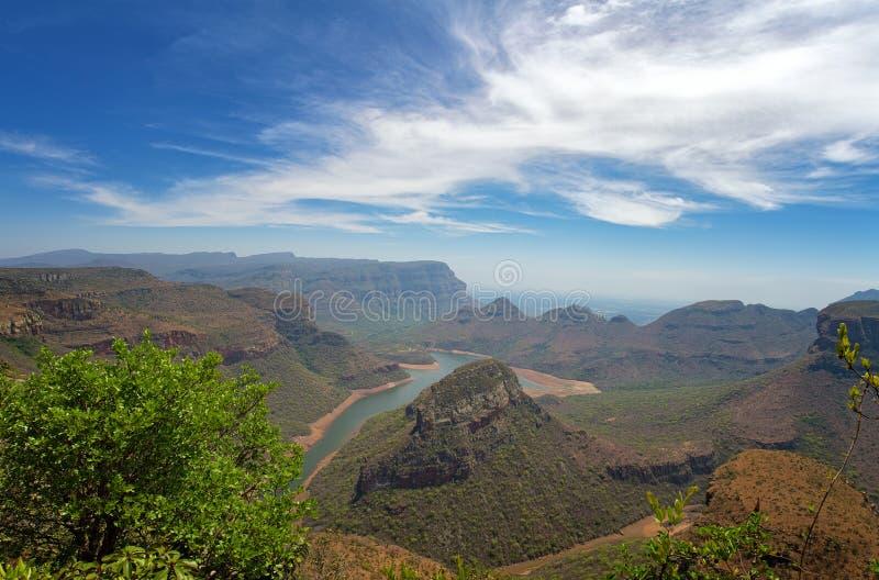 Panorama för Blyde flodkanjon arkivfoto