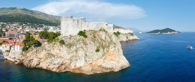Panorama för Dubrovnik gammal stad (Kroatien) royaltyfria bilder