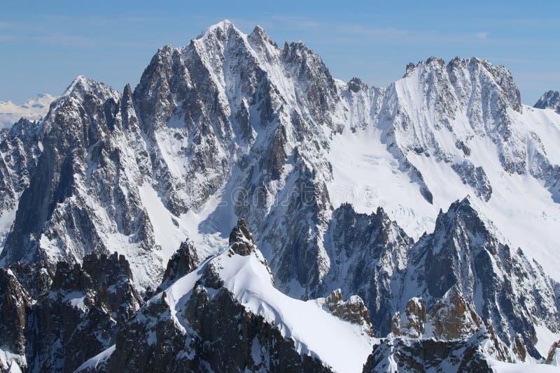 panorama för mont för massiv för alpsblanc italiensk arkivfoto