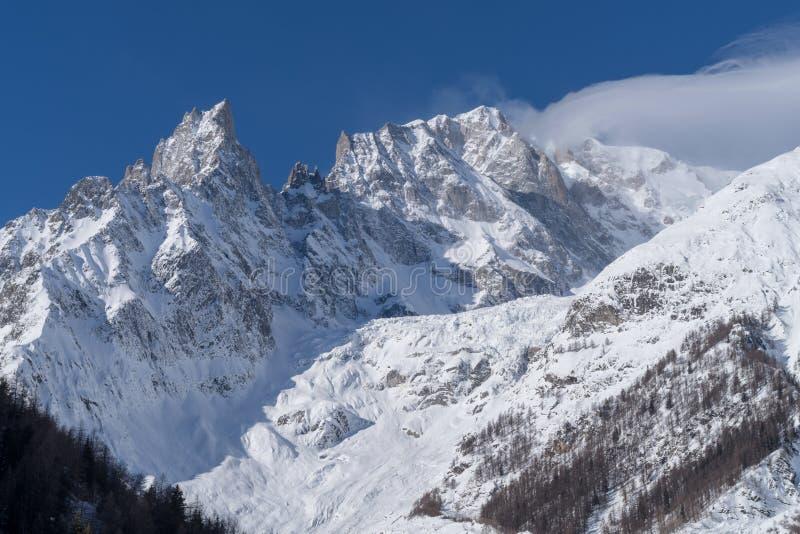 panorama för mont för massiv för alpsblanc italiensk royaltyfri foto