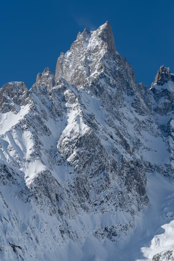 panorama för mont för massiv för alpsblanc italiensk fotografering för bildbyråer