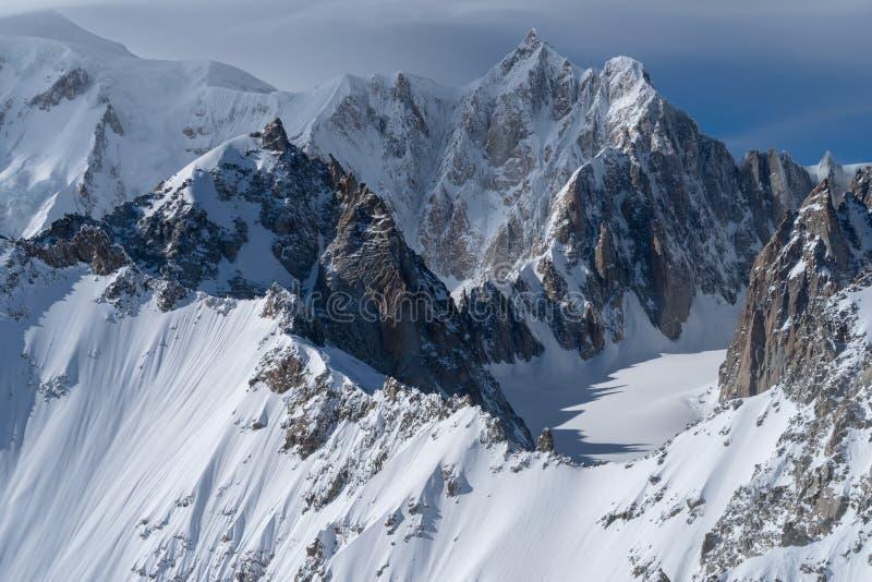 panorama för mont för massiv för alpsblanc italiensk arkivbilder
