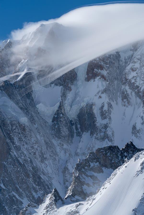 panorama för mont för massiv för alpsblanc italiensk arkivfoton