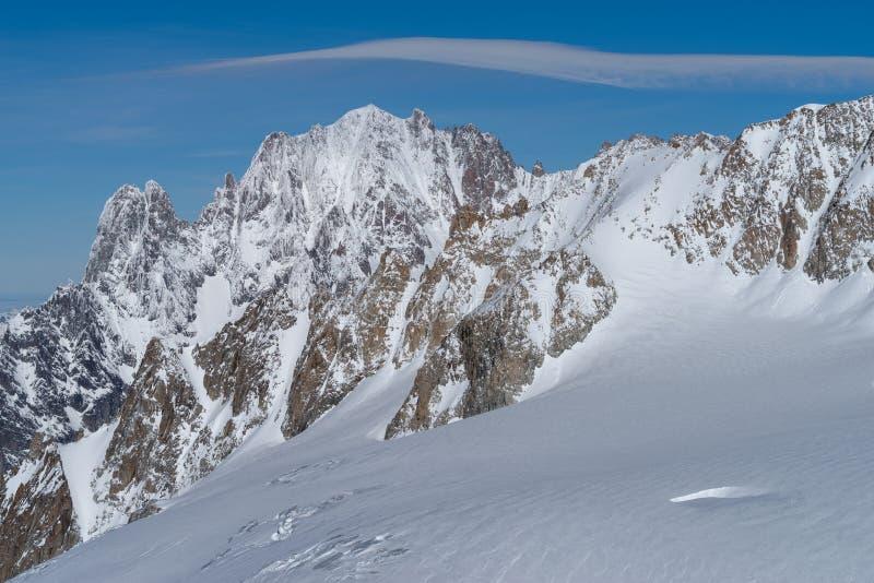 panorama för mont för massiv för alpsblanc italiensk arkivbild