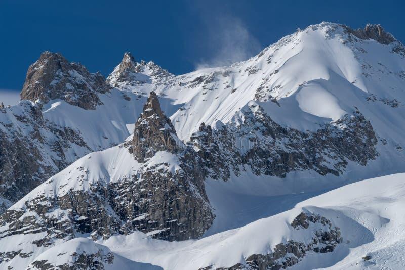 panorama för mont för massiv för alpsblanc italiensk royaltyfria foton