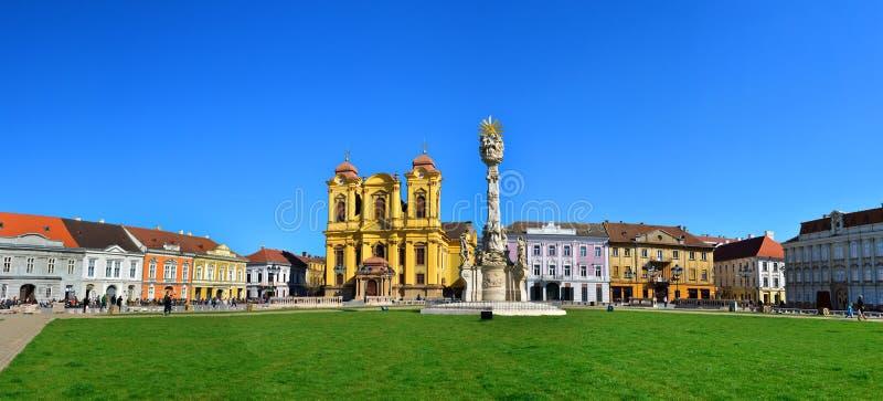 Panorama för Timisoara unionfyrkant royaltyfri bild