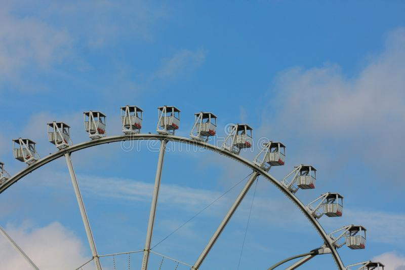 Panorama, Ferris cud lub koło lub toczymy wewnątrz Niemcy zdjęcia royalty free