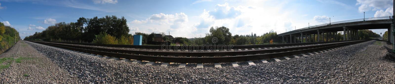 Panorama ferroviario immagini stock