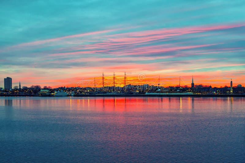 Panorama Filadelfia fotografia stock