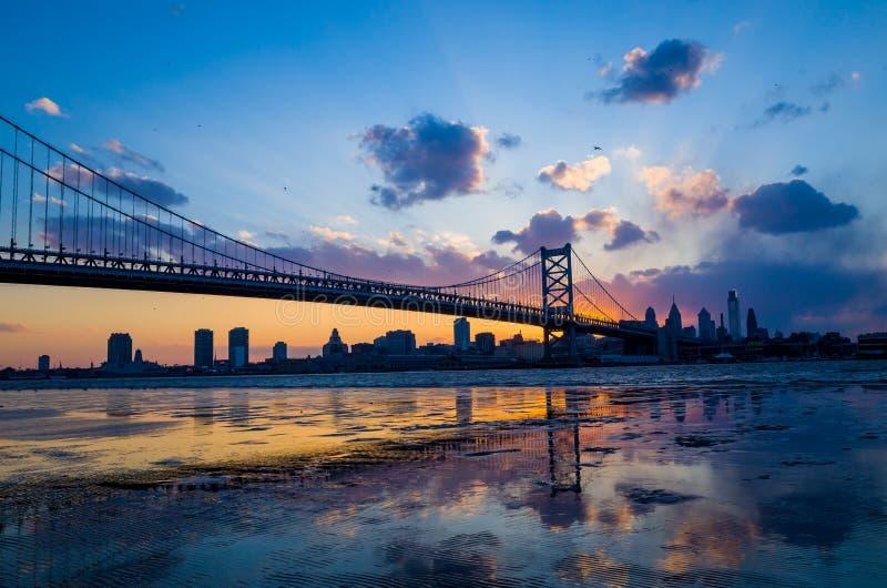 Panorama Filadelfia linia horyzontu obraz stock