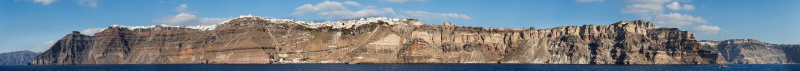 Panorama of Fira, Thira, Santorini island, Greece royalty free stock image