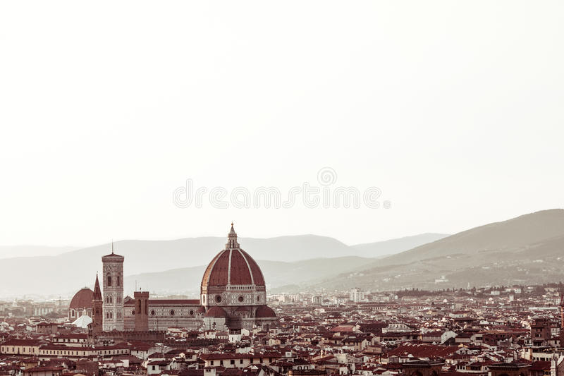 Panorama of Florence in Italy royalty free stock image