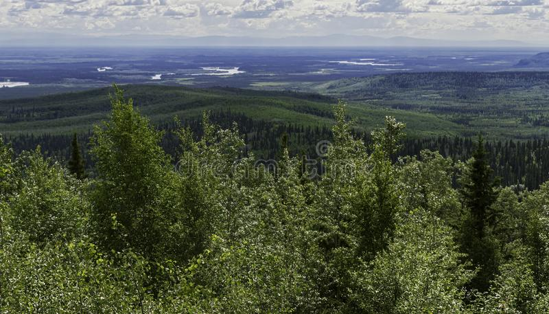 Chena River Recreation Area from Chena Hot Springs Resort royalty free stock photo