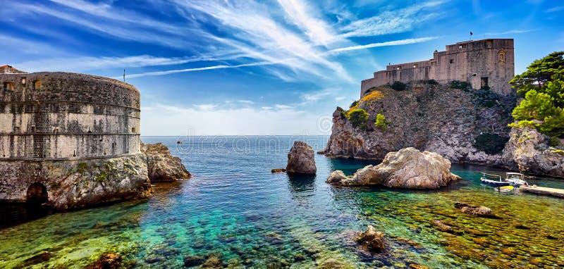 Panorama Fort of St. Lawrence, Fort Lovrjenac in Dubrovnik. The Panorama Fort of . Lawrence, Fort Lovrjenac in Dubrovnik, Croatia stock images