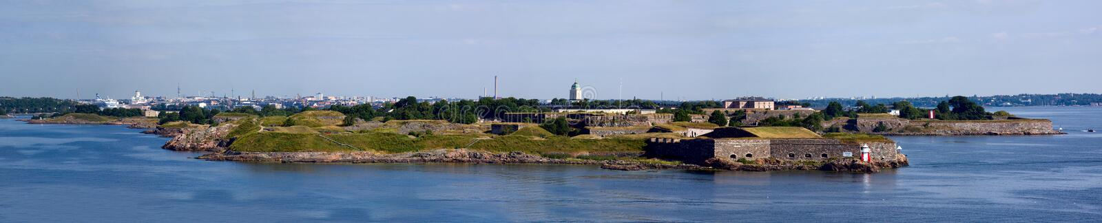 Panorama Of Fortress Of Suomenlinn In The Summer Stock Photo