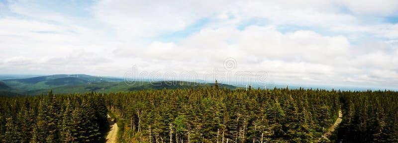 Panorama- foto: Massiv Du Sud, Quebec, Kanada arkivbild