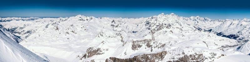 Panorama français d'Alpes photographie stock libre de droits