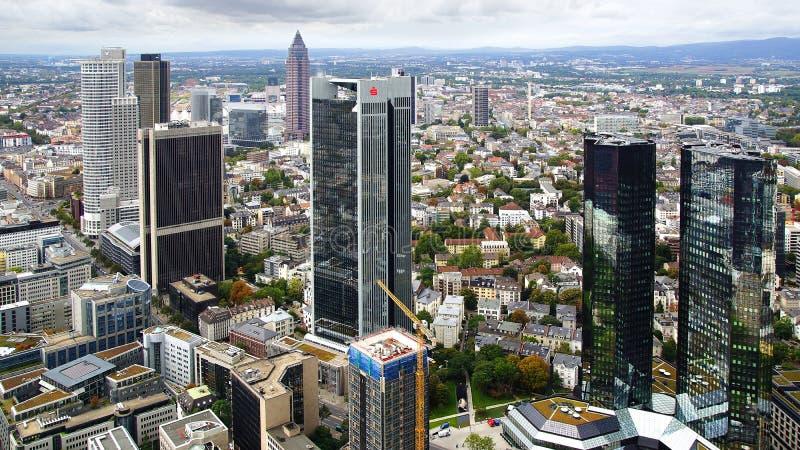 Panorama of Frankfurt am Main, Germany. stock image