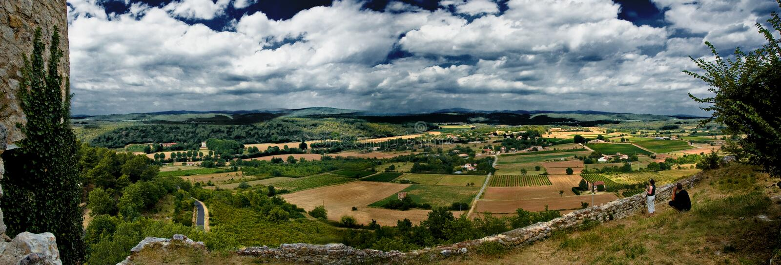 Download Panorama French landscape stock image. Image of european - 3025557