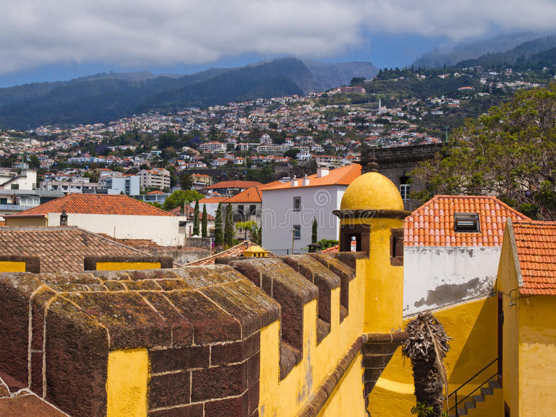 Panorama of Funchal. Panorama of the capital of Madeira Island - Funchal, Portugal royalty free stock images
