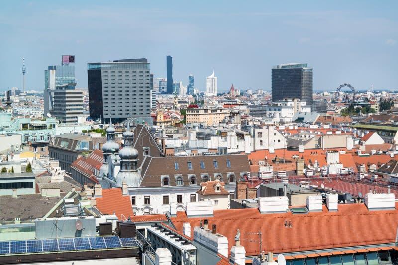 Panorama fuori da Stephansdom a Vienna, Austria fotografia stock