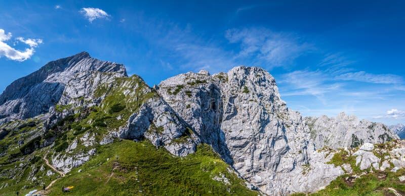 Panorama góry w Alps, Niemcy fotografia royalty free