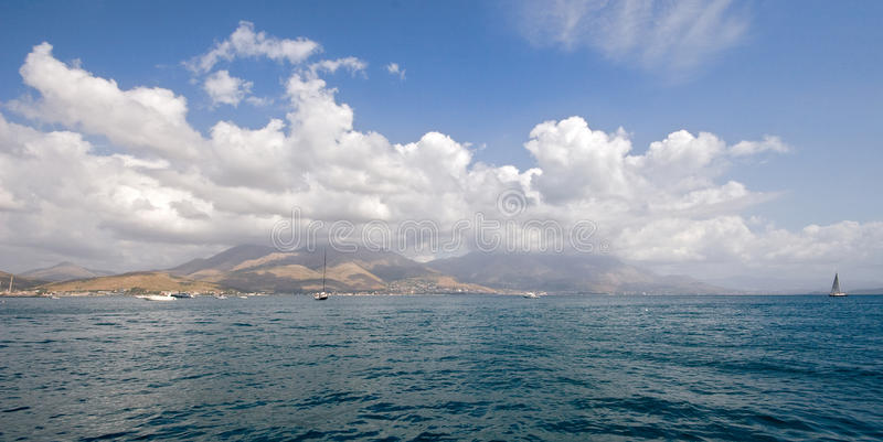 Download Panorama of Gaeta port stock image. Image of blue, mountains - 11259257