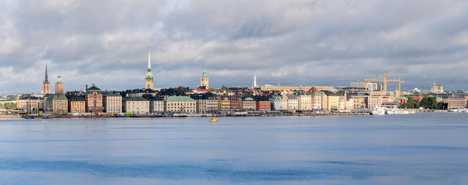 Panorama of Gamla Stan in Stockholm, Sweden royalty free stock image