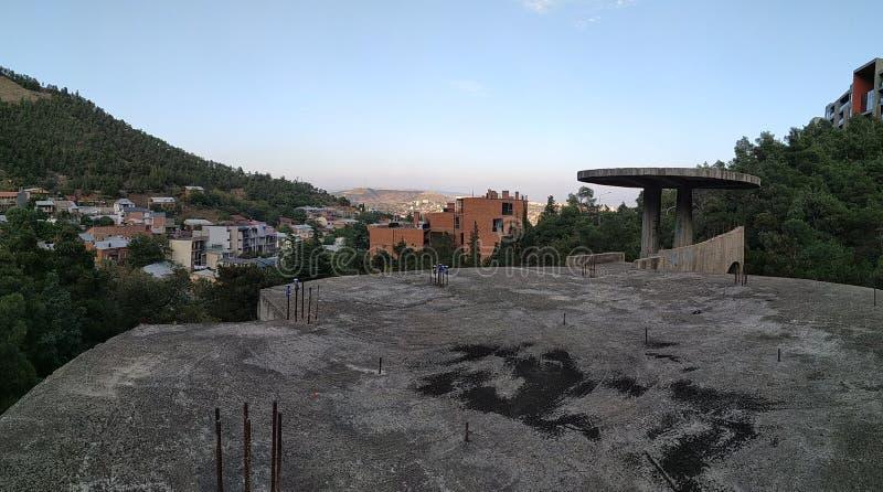 Panorama gamla tbilisi royaltyfria bilder