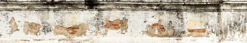 Panorama- gammal bakgrund för tegelstenvägg arkivbild