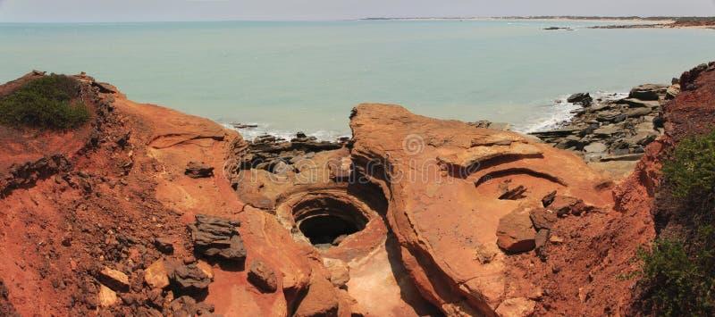 Panorama - Gantheaume punkt, Broome, västra Australien fotografering för bildbyråer