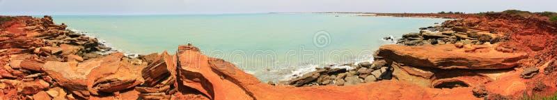 Panorama - Gantheaume punkt, Broome, västra Australien royaltyfri fotografi