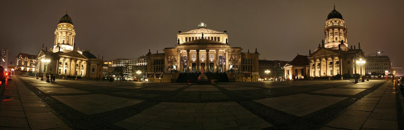 A panorama from gendarmenmarkt berlin germany stock photo