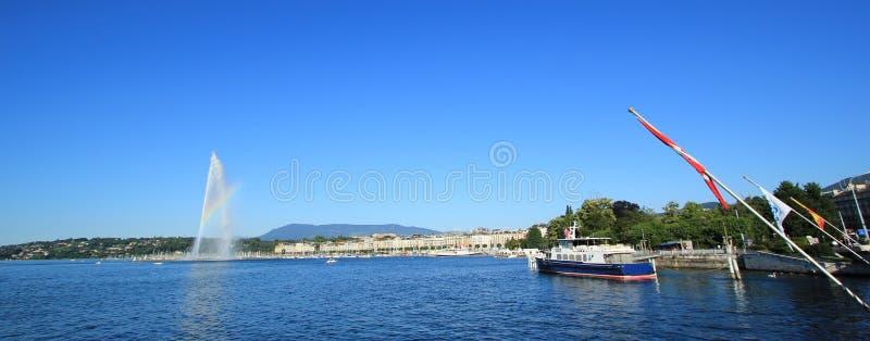 Panorama of Geneva, Switzerland stock images