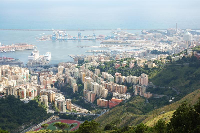 Panorama of Genoa. In Italy stock images