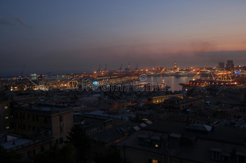 Panorama of Genoa. In Italy royalty free stock images