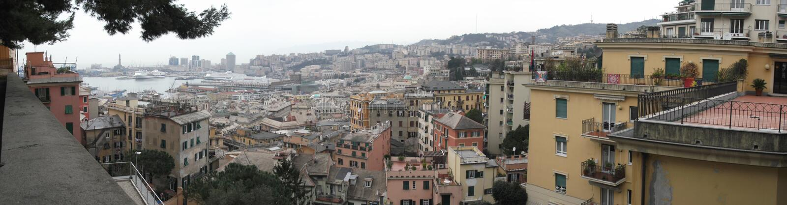 Panorama of Genoa. In Italy royalty free stock photography