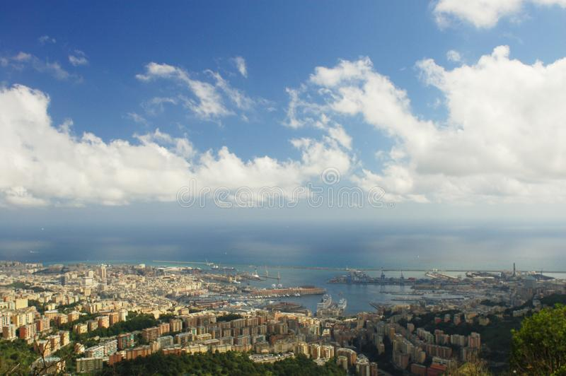 Panorama of Genoa. In Italy stock image