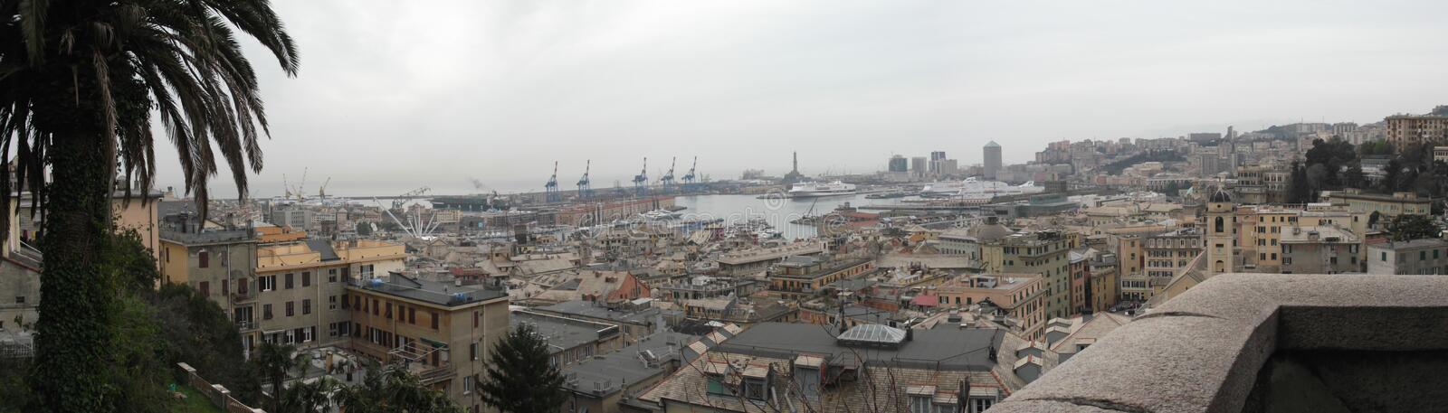Panorama of Genoa. In Italy stock photography