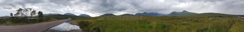 Panorama Glenn Mountain Lake stockbilder
