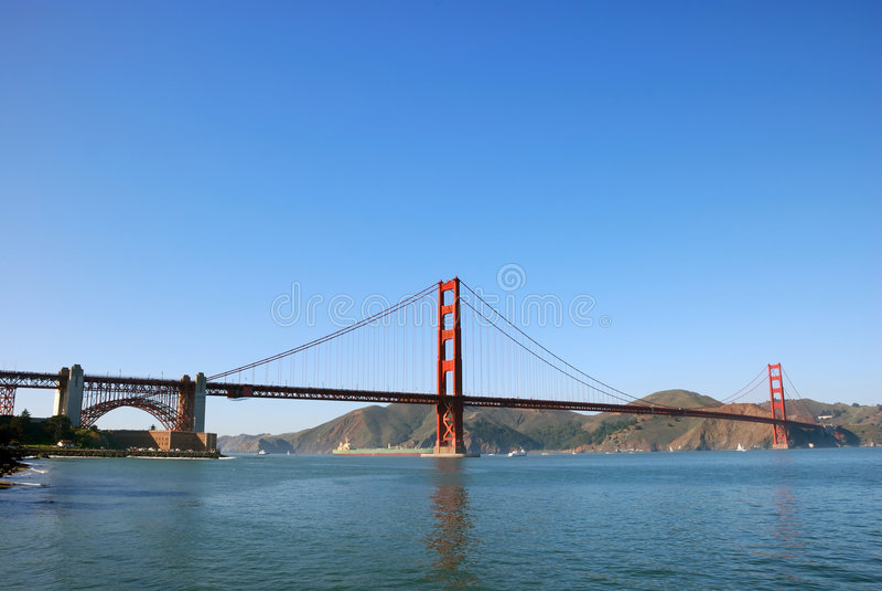 Panorama of Golden Gate Bridge in San Francisco royalty free stock image
