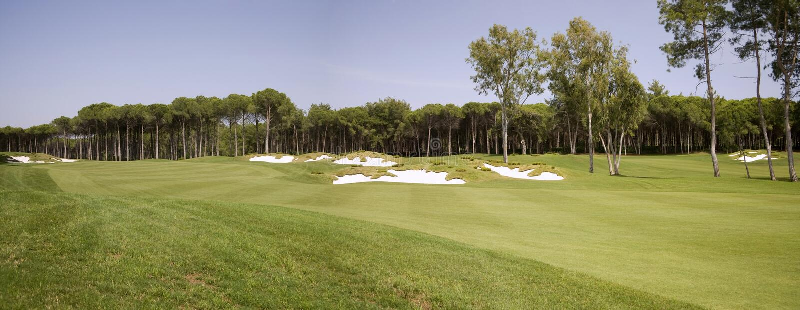 Panorama of golf club royalty free stock photo