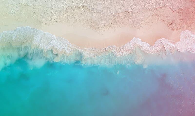 Panorama Grace Bay de bourdon avec la fuite légère colorée, le Providenciales, Turcs et la Caïques photos stock